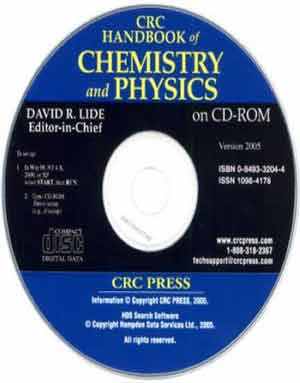 CRC Handbook of Chemistry and Physics CD-ROM 2010